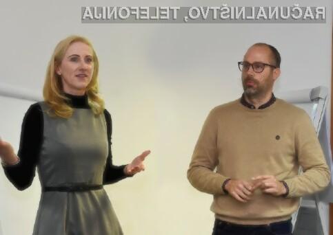 Sašo Palčič, direktor agencije Madwise, in Katja Zajko, direktorica podjetja Recosi.