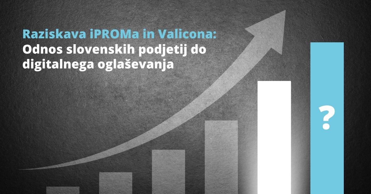 Raziskava iPROMa in Valicona - Odnos slovenskih podjetih do digitalnega oglaševanja