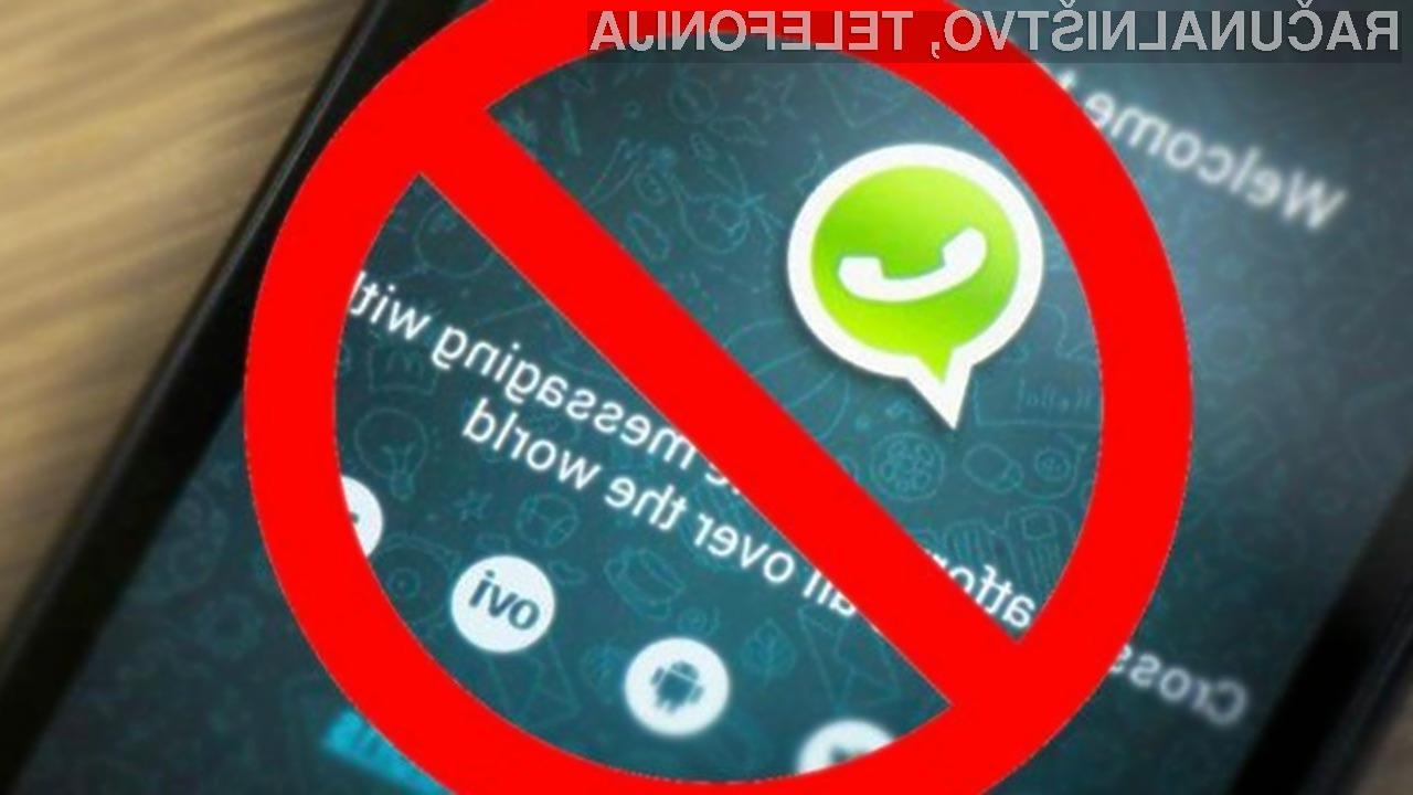 WhatsApp kmalu ne bomo več mogli uporabljati na mobilnih napravah Android 2.3.7 ali starejših in iOS 8 ali starejših.