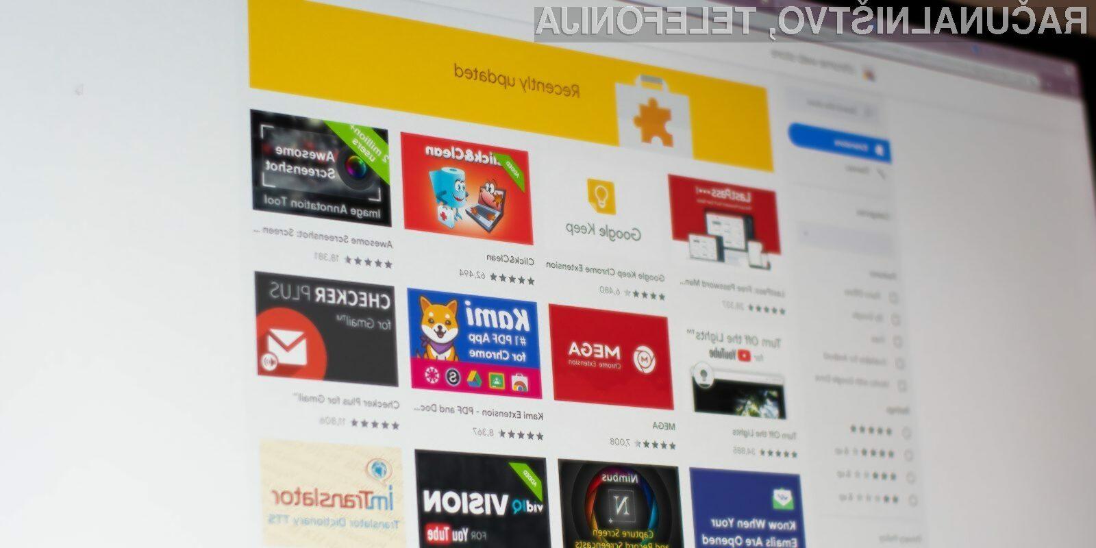 Google je zaradi zlonamernega delovanja odstranil več kot 500 razširitev za Chrome.
