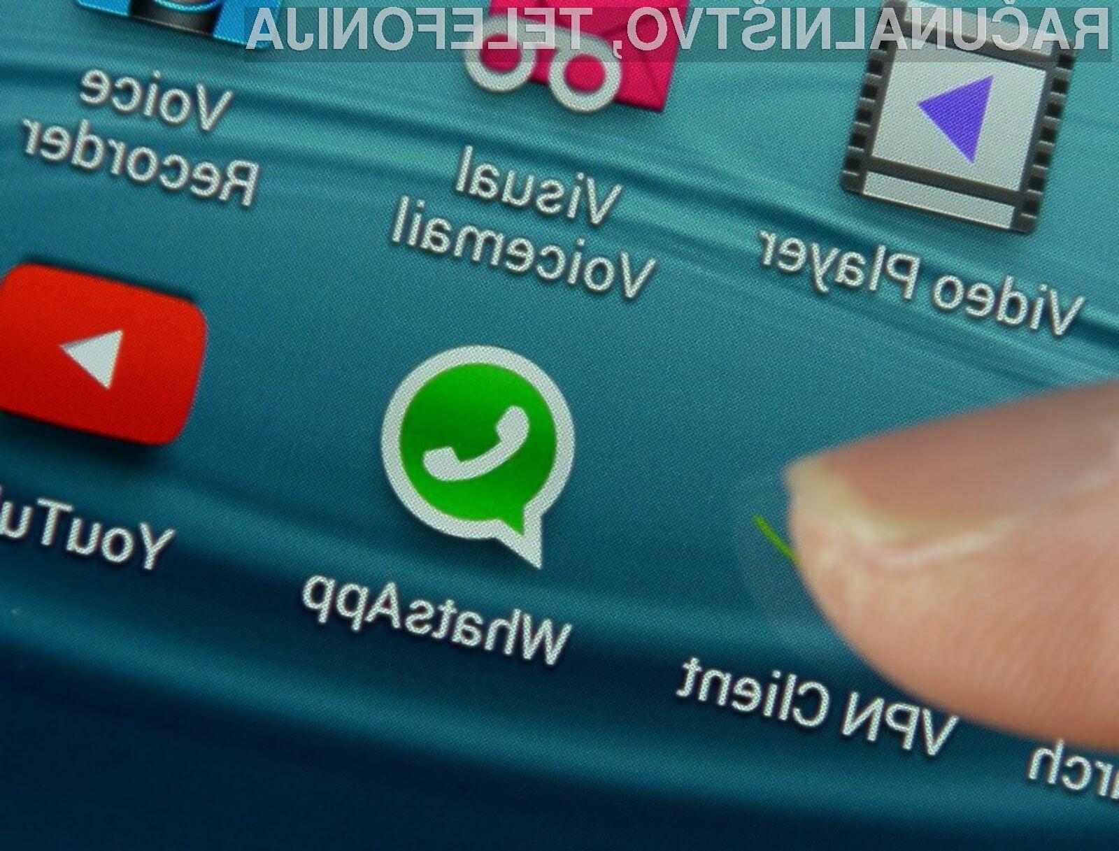 ifrirni sistem aplikacije WhatsApp ni transparenten, kar pomeni, da ni zagotovila, da je ta dejansko varen.