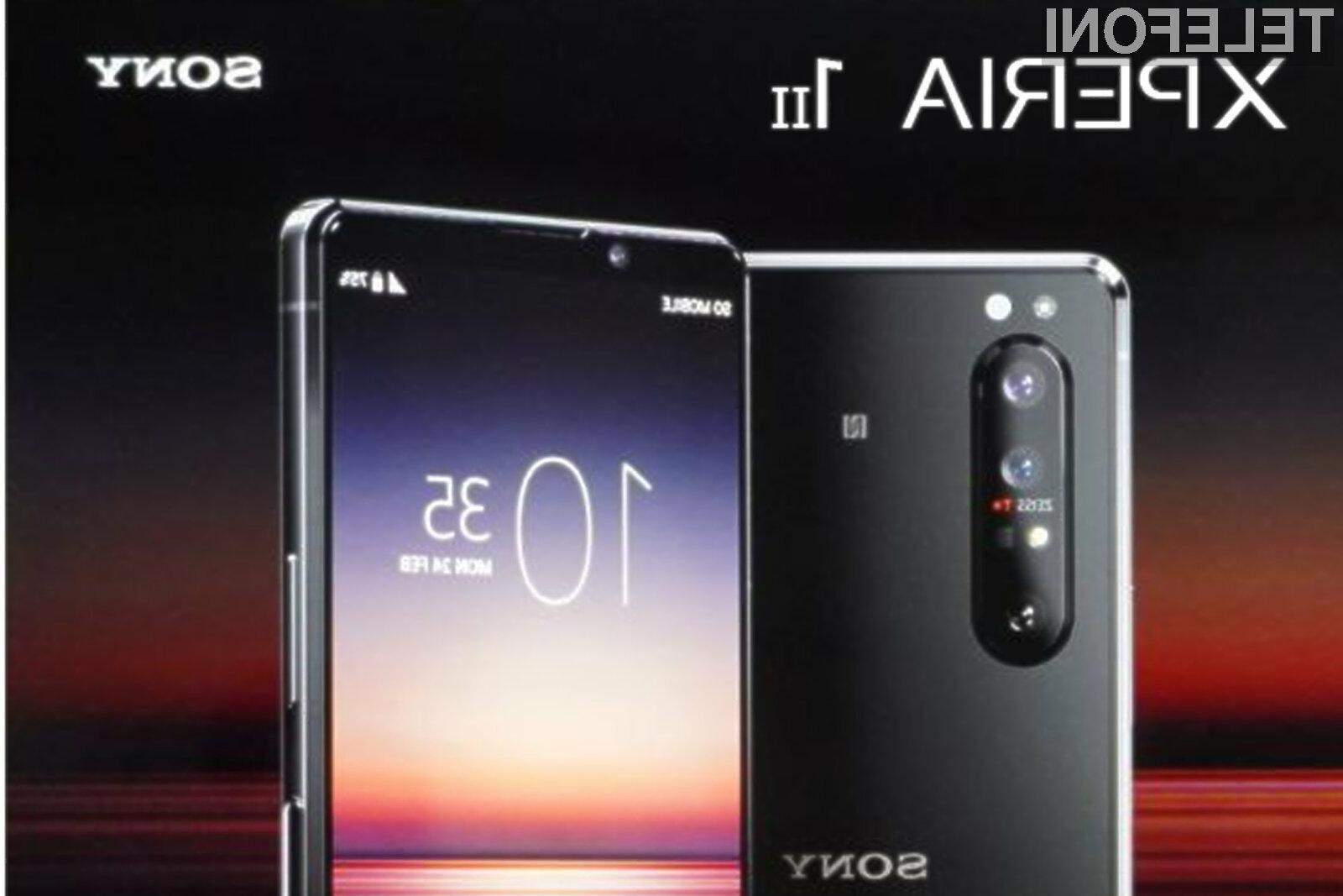 Pametna mobilna telefona Sony Xperia 1 II in Xperia 10 II bosta po vsej verjetnosti naprodaj še pred pričetkom letošnje pomladi.