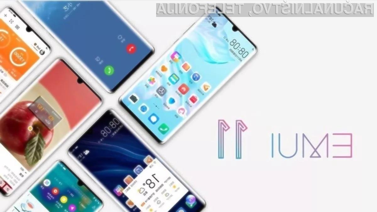 Novi Huawei EMUI 11 bo prejelo kar bogata paleta mobilnih naprav.