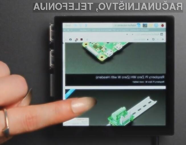 Zaslon visoke ločljivosti Pimoroni HyperPixel 4.0 se odlično prilega kompaktnim računalnikom Raspberry Pi.