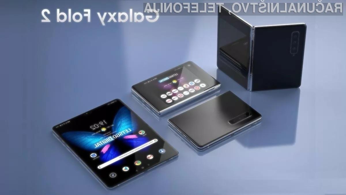 Samsung Galaxy Fold 2 naj bi bil opremljen z največji prepogljivim zaslonom doslej!