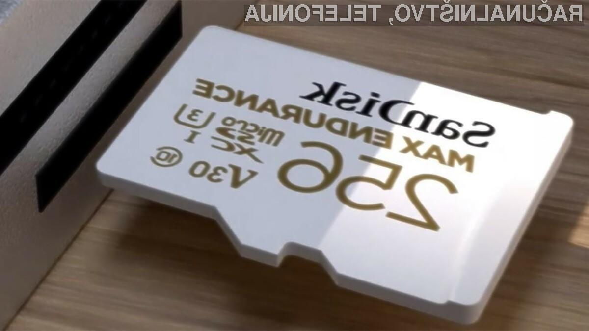 Pomnilniške kartice SanDisk Max Endurance nas zagotovo ne bodo pustile na cedilu!