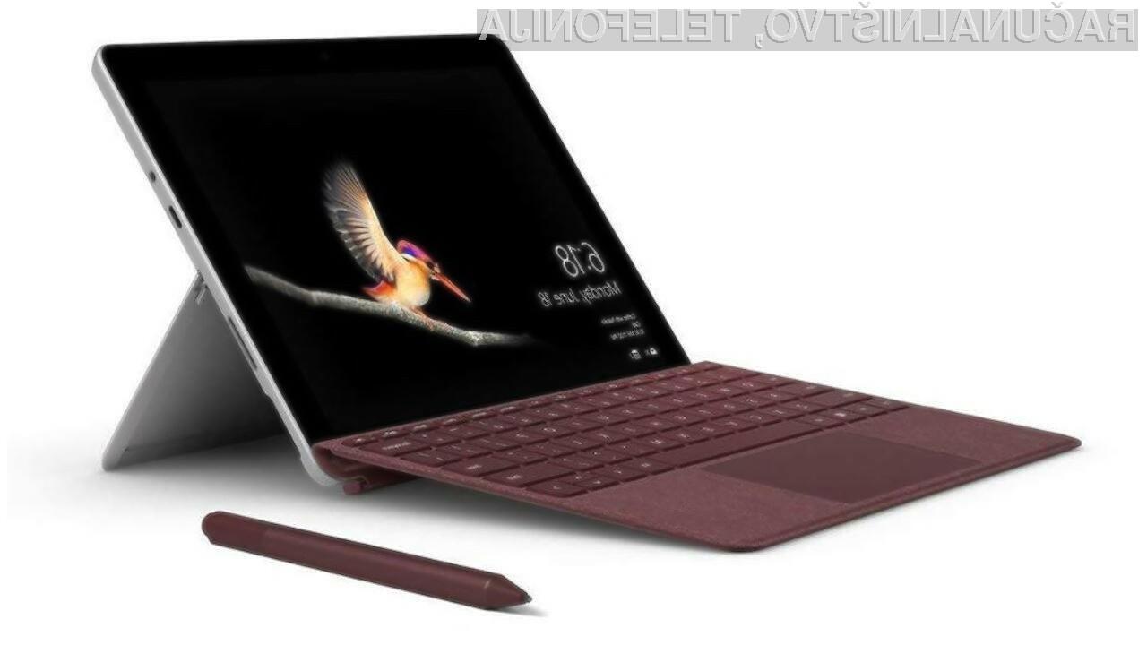 Novi prenosni računalnik Microsoft Surface Go 2 naj bi bil po obliki povsem enak zdajšnjemu modelu.