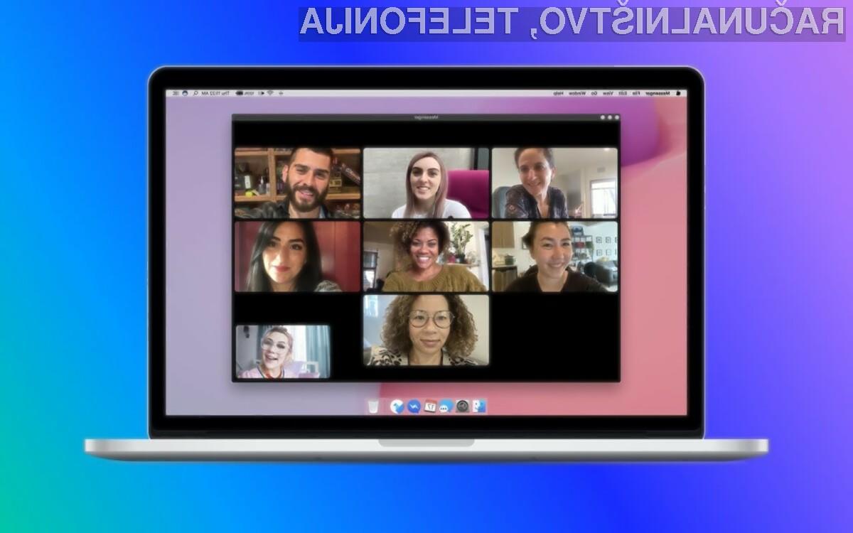 Namizni Facebook Messenger se lahko zlahka kosa s sporočilnima sistemoma Zoom in Microsoft Skype.