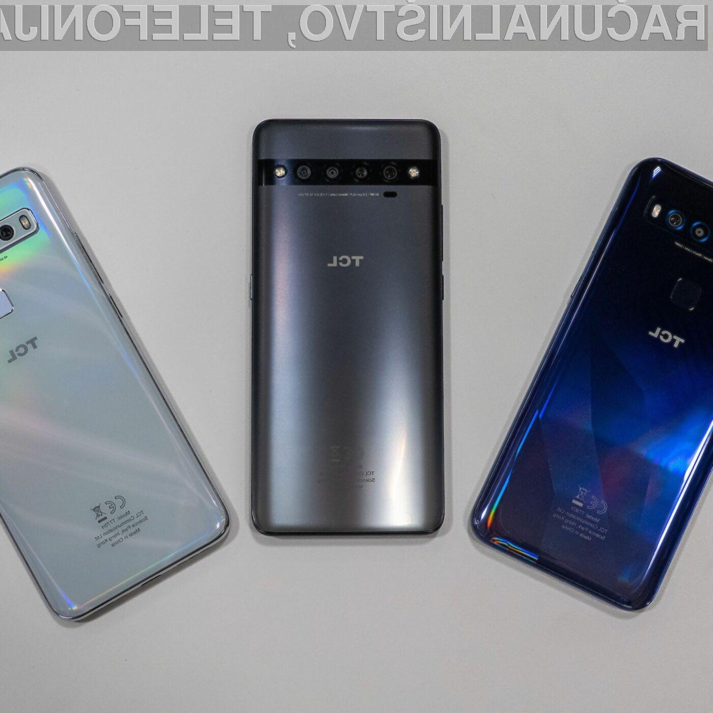 Podjetje TLC bo kmalu ponudilo v prodajo kar tri zanimive telefone.
