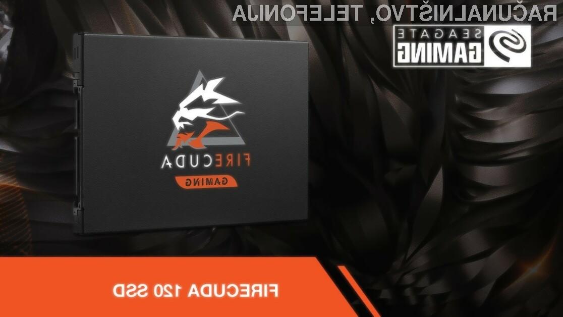 Novi pogoni Seagate FireCuda 120 Gaming bodo zlahka kos tudi najzahtevnejšim nalogam.