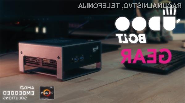 Kompaktni računalnik SECO UDOO BOLT GEAR je kot nalašč za manj zahteva dela in domači kino.