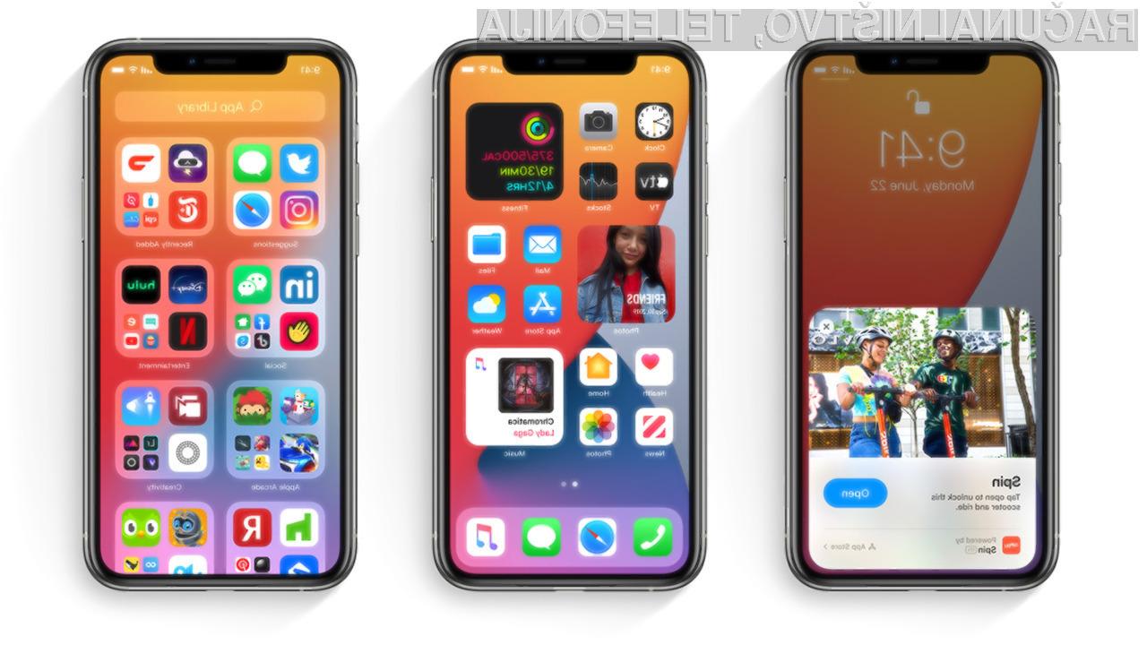 Novi Apple iOS 14 je brez težav upravičil vsa pričakovanja!