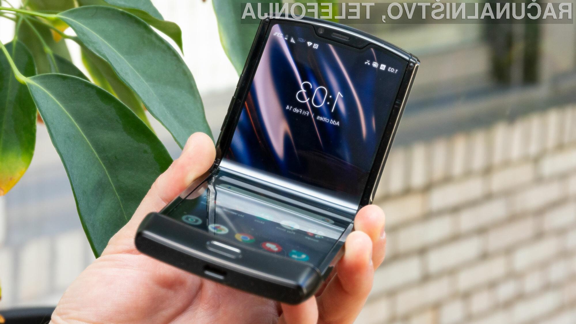 Motorola Razr s podporo mobilnemu omrežju 5G bo še boljša!