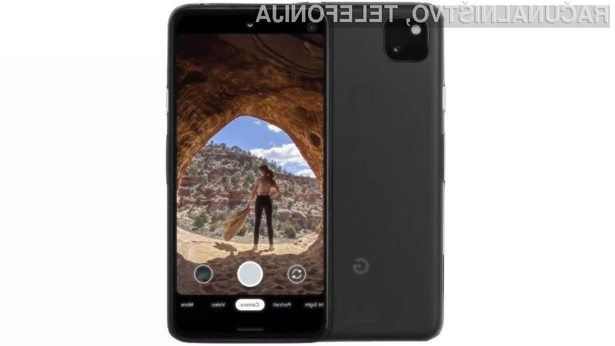 Za Googlov telefon Pixel 4a naj bi bilo treba odšteli okoli preračunanih 297 evrov.