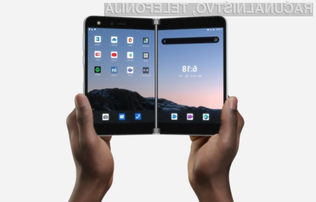 Za nakup telefona Microosft Surface Duo je v predprodaji treba odšteti kar preračunanih 1.182 evrov.