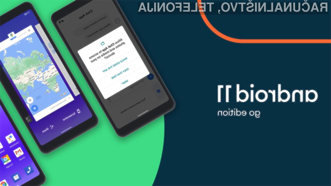 Mobilni operacijski sistem Android 11 (Go Edition) bo na voljo od meseca oktobra dalje.