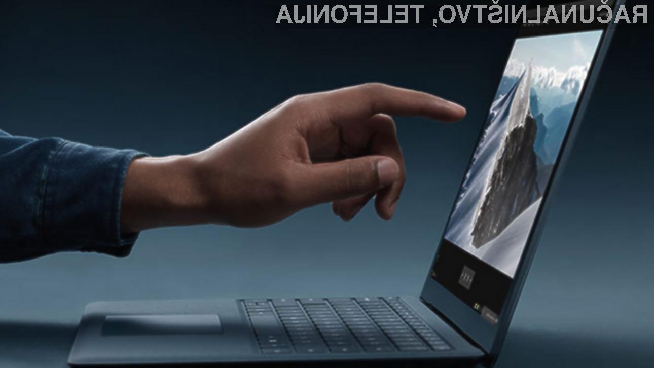 Vstopna različica cenejšega prenosnega računalnika Microsoft Surface Laptop bo vrednotena na preračunanih 600 evrov.