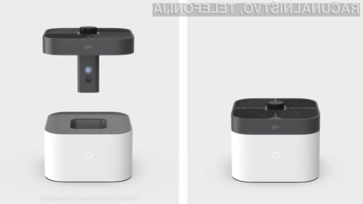 Nadzorni sistem Amazon Ring Always Home Cam lahko povsem samodejno leti po prostorih hiše in stanovanja ter opravlja videonadzor.