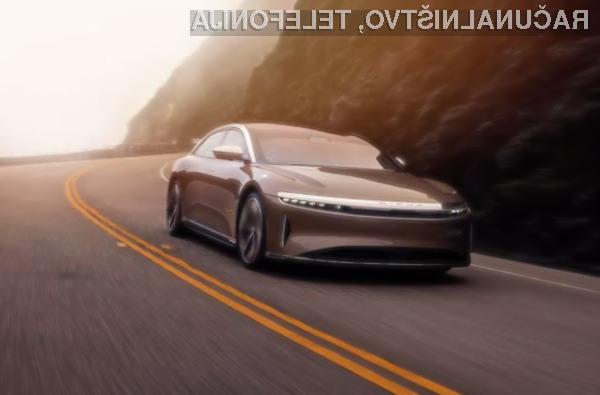 Električni avtomobil Lucid Motors Air bo imel že kar spodoben doseg.