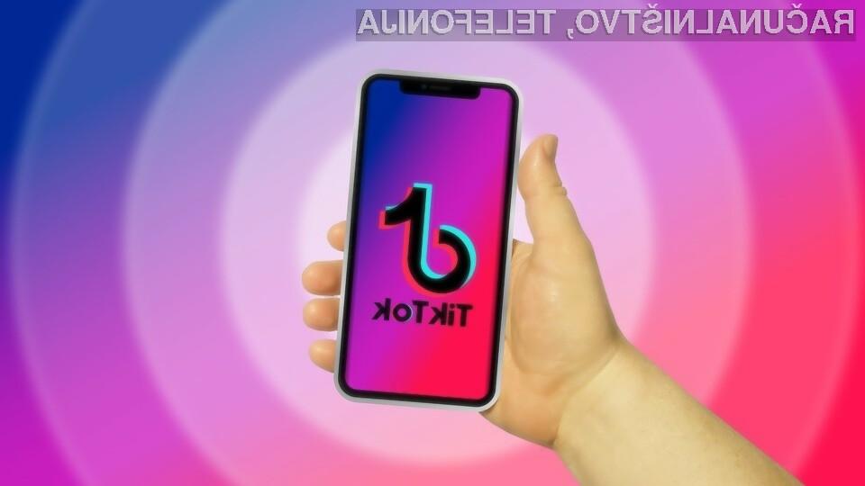 Družbeno omrežje TikTok bi v ZDA lahko rešilo podjetje Oracle.