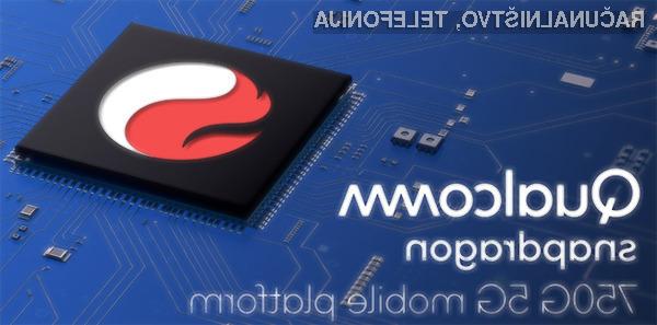Novi Qualcomm Snapdragon 750G bo namenjen cenejšim pametnim mobilnim telefonom s podporo mobilnemu omrežju 5G.