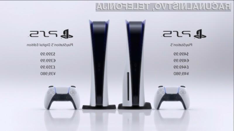 Za novi Sony PlayStation 5 bo treba odšteti vsaj 399 evrov!
