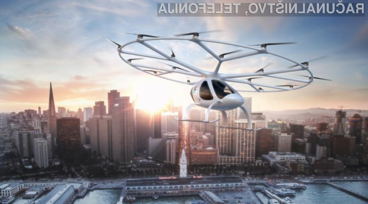Volocopter VoloCity je pred časom uspešno opravil prvi polet s človeško posadko.