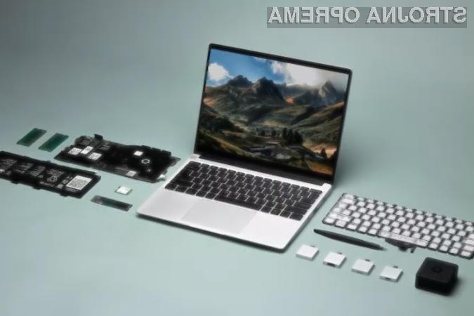 Prenosni računalnik Framework Laptop je povsem popravljiv, saj so njegove komponente modularne.